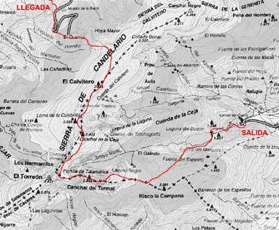 Mapa de la Sierra